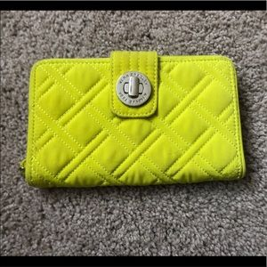 Vera Bradley Neon Turn-lock Wallet!